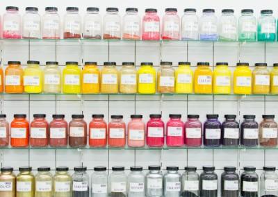 Nos données de la recette de base pour produire de la poudre colorée