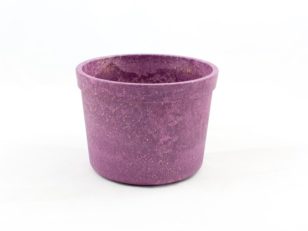 Pot de fleur en bioplastique