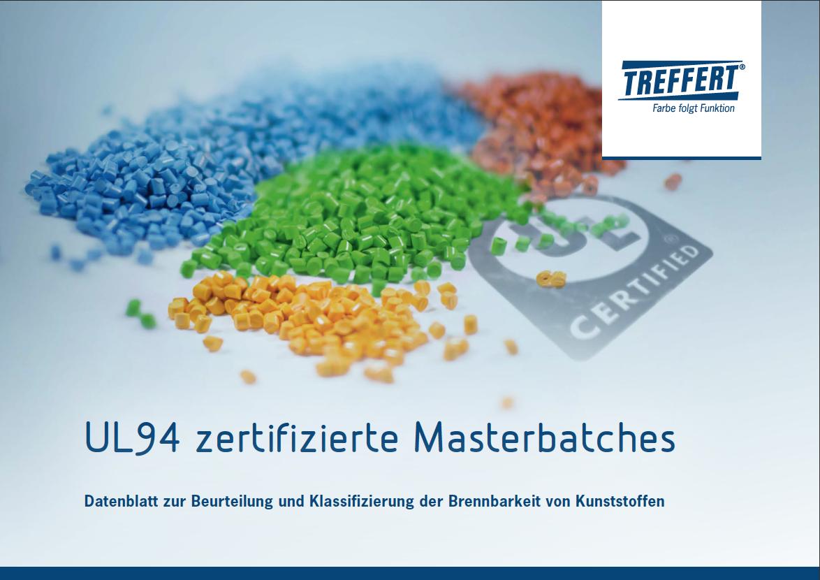 Broschüre UL94 zertifizierte Masterbatches von Treffert