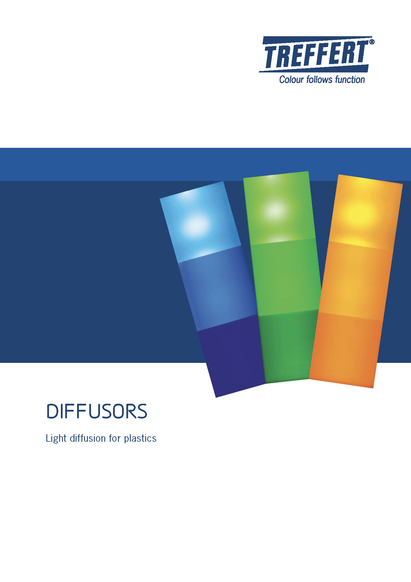 Treffert brochure about diffusors - Light diffusion for plastics