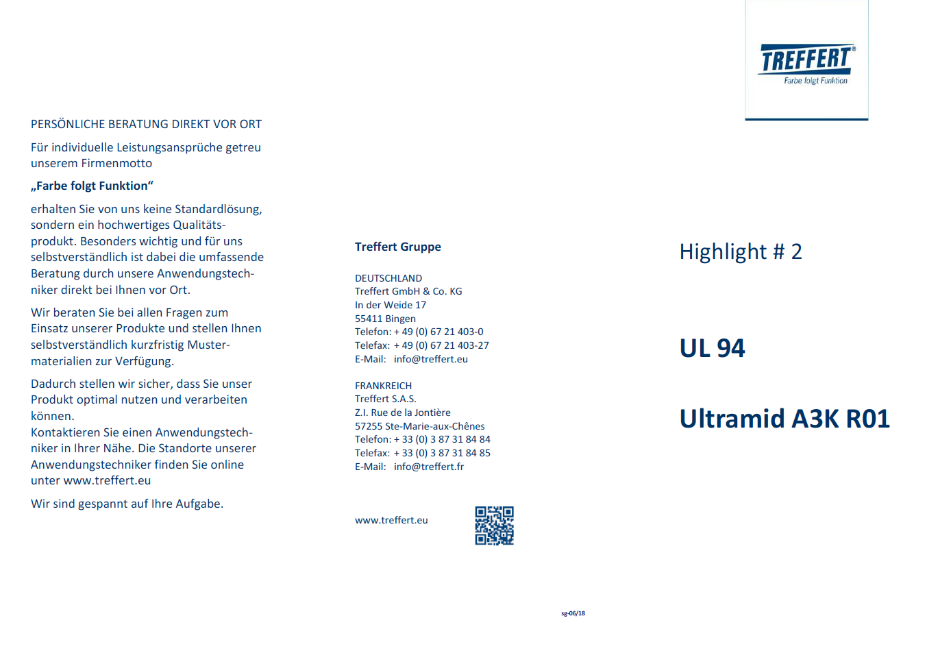 Broschüre UL94 Ultramid A3K R01 von Treffert